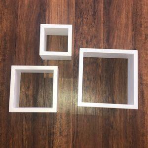 White square shelves